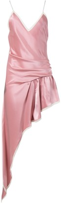 Alexander Wang Asymmetric Cami Slip Dress Blush