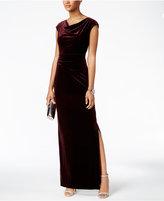Vince Camuto Velvet Cutout-Back Gown