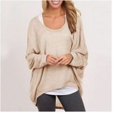 Cibeat Women Plus Size Long Sleeve Pullover Sweater Oversized Baggy Loose Jumper Tops Color: Size (Women's):XL