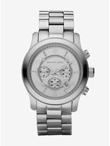 Michael Kors Runway Oversized Silver-Tone Stainless Steel Watch