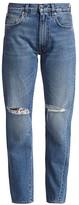 Totême Original Distressed Straight-Leg Jeans