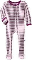 Kickee Pants Printed Footie (Baby) - Animal Stripe - 6-12 Months