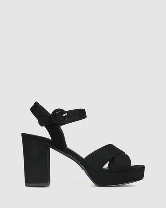 betts Women's Black Heeled Sandals - Bronte Platform Sandals - Size One Size, 5 at The Iconic