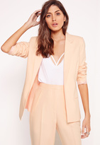 Missguided Clean Edge Tailored Blazer Nude