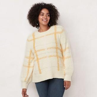 Lauren Conrad Plus Size Blouson Pullover Sweater
