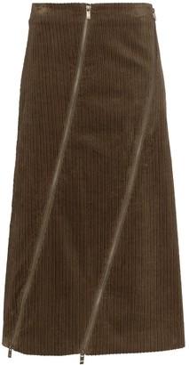 ASAI Zip-Detaled Midi Skirt