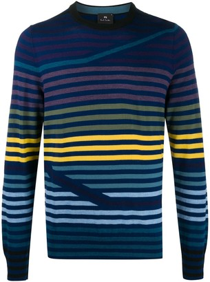 Paul Smith Striped-Pattern Crew Neck Jumper