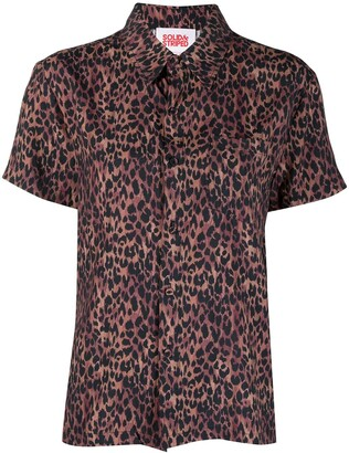 Solid & Striped The Cabana leopard-print shirt