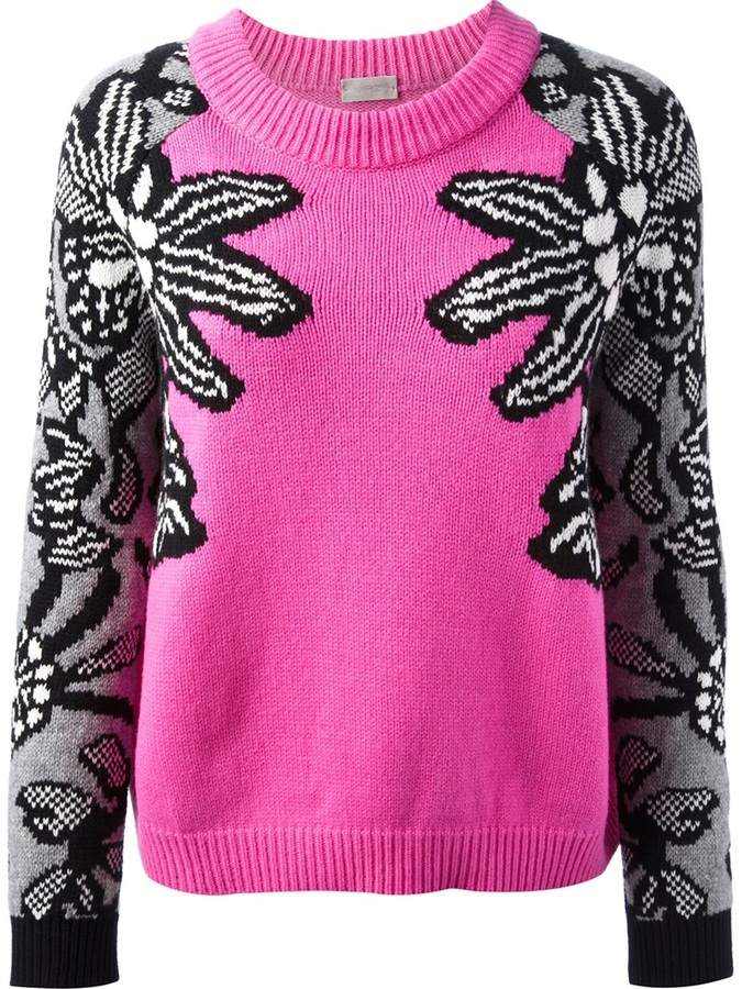MRZ contrast sleeve sweater