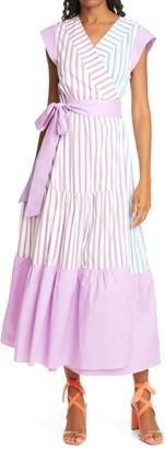 Tanya Taylor Jasmine Tie Waist Stripe Maxi Dress