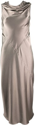 Rick Owens Drape Satin Dress