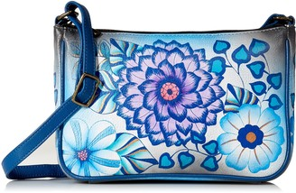 Anuschka Anna by Hand Painted Leather Women's Mini Wide Crossbody