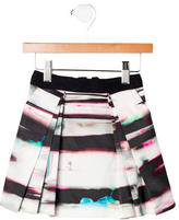 Milly Girls' Abstract Print Pleated Skirt