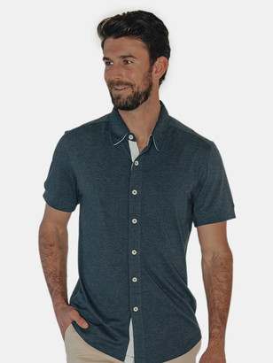 The Normal Brand Active Puremeso Short Sleeve Button Down Shirt