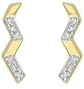 Kara Ross Pangea Accent Stud Earrings 18k Gold and Diamonds