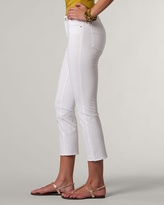 Coldwater Creek Natural mini bootcut crops