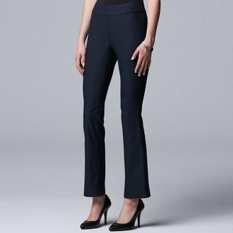 Vera Wang Women's Simply Vera Modern Twill Bootcut Pants