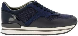 Hogan Sneakers In Leather And Lurex Fabric With Sole 222