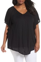 Sejour Plus Size Women's Ruffle Sleeve Top