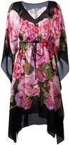 Dolce & Gabbana rose print kaftan dress - women - Silk - 40