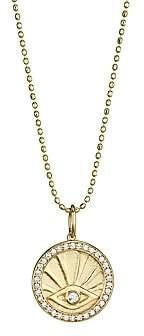 Sydney Evan Women's 14K Yellow Gold & Diamond Evil Eye Pendant Necklace