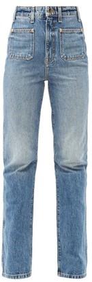 KHAITE Isabella High-rise Straight-leg Jeans - Light Blue