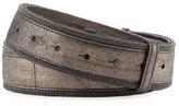 Brunello Cucinelli Brushed Metallic Leather Belt