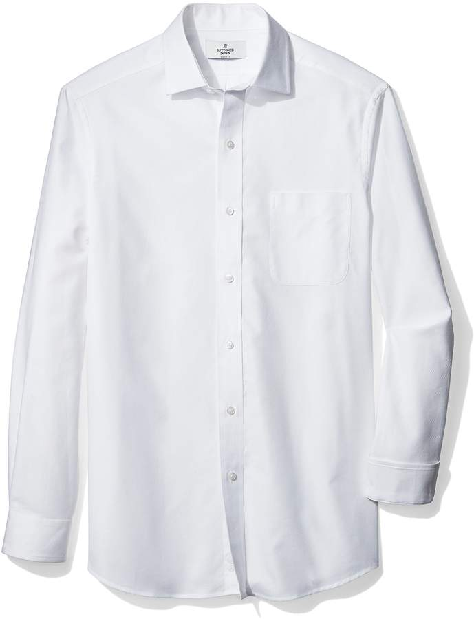 Buttoned Down Men's Classic Fit Spread-Collar Textured Sport Shirt