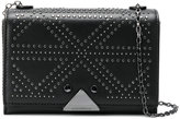 Emporio Armani stud detail shoulder bag - women - Leather/metal - One Size