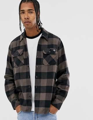 Dickies Sacramento long sleeve check shirt in grey