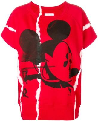 Faith Connexion Mickey Mouse print short-sleeve sweatshirt