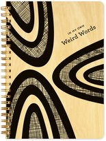 Night Owl Paper Goods Weird Words Journal with Real Wood Covers