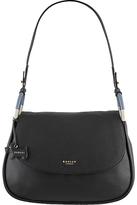 Radley Hyde Park Leather Medium Shoulder Bag, Black