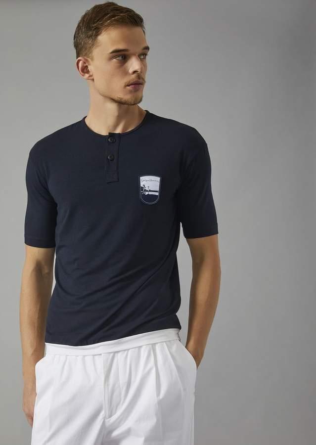 Giorgio Armani T-Shirt With Embroidered Pantelleria Emblem