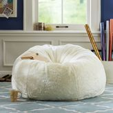 PBteen Ivory Luxe Fur Small + Large Beanbags