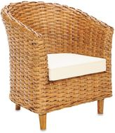 Safavieh Omni Barrel Chair in Honey Finish