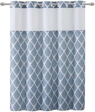 Hookless Diamond Shower Curtain