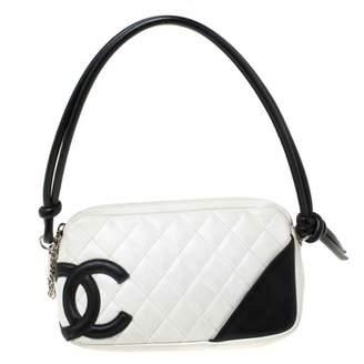 Chanel Cambon White Leather Handbags