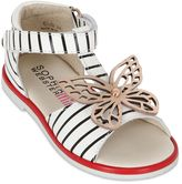 Sophia Webster Butterfly Striped Nappa Leather Sandals