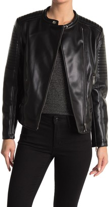 Catherine Malandrino Faux Leather Moto Jacket