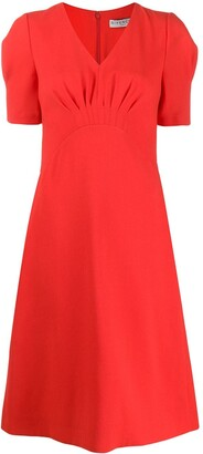 Givenchy puffed sleeves midi dress