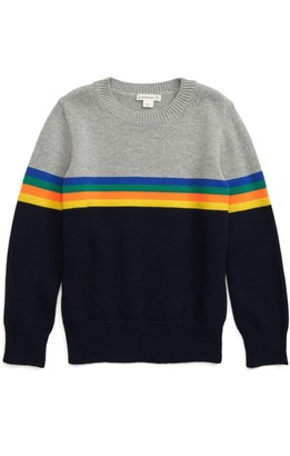 J.Crew crewcuts by Stripe Cotton Sweater