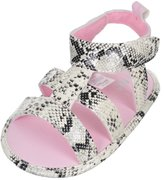 "Little Me Baby Girls' ""Python Perfect"" Sandal Booties"