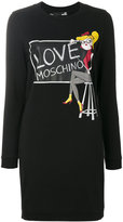 Love Moschino printed sweatshirt dress - women - Cotton/Polyester - 42