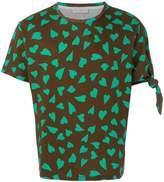 J.W.Anderson heart print knot T-shirt