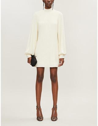 Alexis Lunia high-neck sequinned mini dress