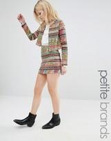 Glamorous Petite Multi Geo-Tribal Stripe Mini Skirt
