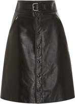 RED Valentino Leather Skirt With Belt Detail