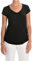 Cynthia Rowley Pima Cotton-Modal V-Neck T-Shirt - Short Sleeve (For Women)