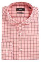 HUGO BOSS Cotton Dress Shirt, Sharp Fit Mark US 16/R Red